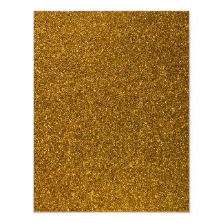 Brilho do ouro convite 10.79 x 13.97cm