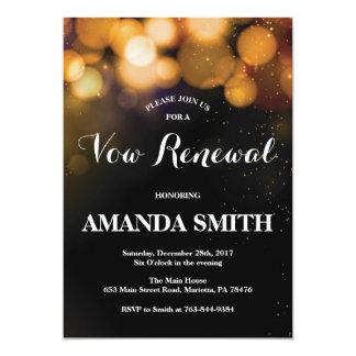 Brilho do ouro do cartão do convite da renovação
