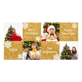 brilho do ouro dos quadrados 8H - cartões de foto Cartão Com Foto
