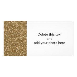 Brilho do ouro impresso cartão com foto