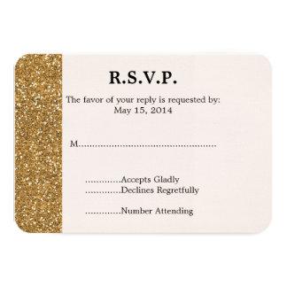 Brilho do ouro que Wedding RSVP Convite Personalizado