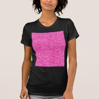Brilho do rosa quente camiseta
