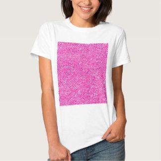 Brilho do rosa quente camisetas