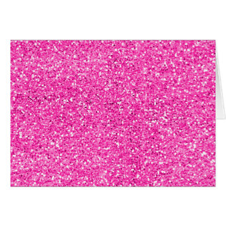 Brilho do rosa quente cartão comemorativo