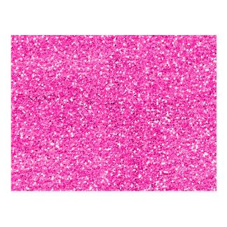 Brilho do rosa quente cartão postal