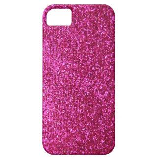 Brilho do rosa quente do falso capa barely there para iPhone 5