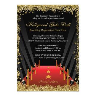 Brilho do tapete vermelho da bola da gala de convite 12.7 x 17.78cm