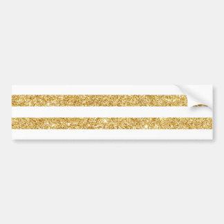 Brilho elegante do ouro do falso e teste padrão adesivo de para-choque