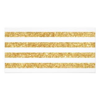 Brilho elegante do ouro do falso e teste padrão cartão