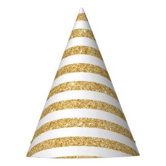 Brilho elegante do ouro do falso e teste padrão chapéu de festa