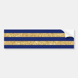 Brilho elegante do ouro do falso e teste padrão da adesivo para carro