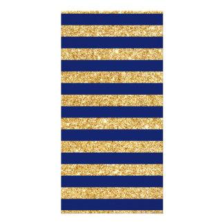 Brilho elegante do ouro do falso e teste padrão da cartão
