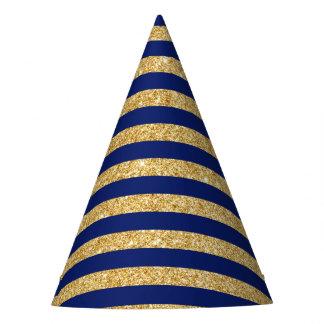 Brilho elegante do ouro do falso e teste padrão da chapéu de festa
