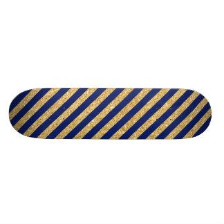 Brilho elegante do ouro do falso e teste padrão da shape de skate 18,4cm
