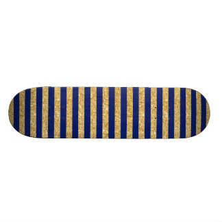 Brilho elegante do ouro do falso e teste padrão da shape de skate 21,6cm