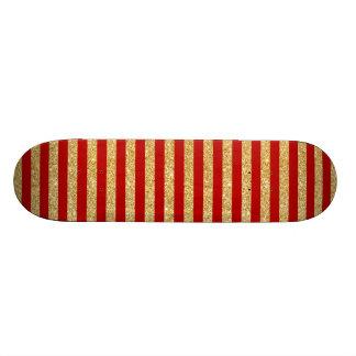 Brilho elegante do ouro do falso e teste padrão shape de skate 21,6cm