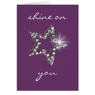 Brilho em você cartão comemorativo