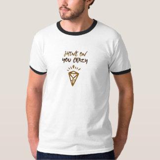 Brilho em você diamante louco camiseta