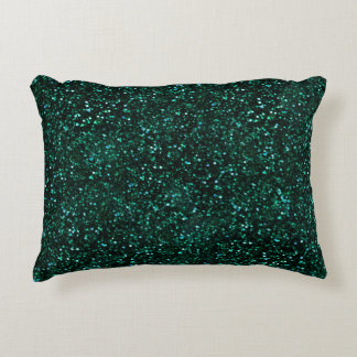 Brilho escuro do verde azul de turquesa almofada decorativa