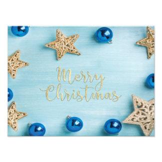 Brilho festivo do Feliz Natal dos Baubles das Impressão De Foto