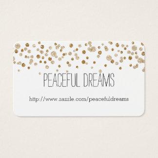 Brilho Glam dos confetes do ouro Cartão De Visitas