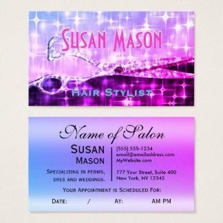Brilho Glam feminino do Hairstylist Cartão De Visitas