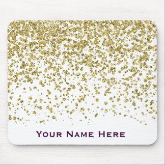 Brilho Glam Mousepad personalizado confetes do
