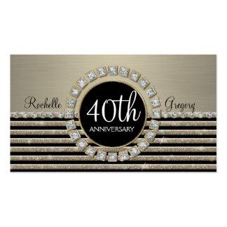 Brilho horizontal moderno 40th da listra do art cartão de visita