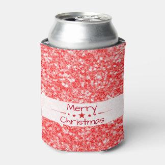 Brilho Natal-Vermelho alegre Porta-lata