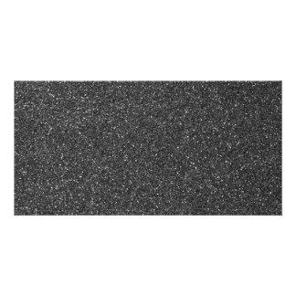 Brilho preto cartão com foto
