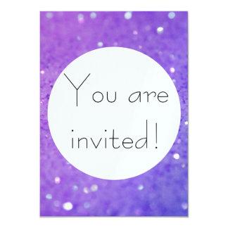 Brilho roxo brilhante - brilhante, Sparkles Convite 11.30 X 15.87cm