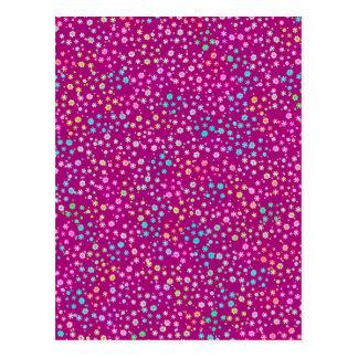 Brilho roxo cartão postal