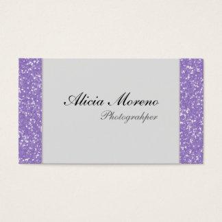 Brilho roxo cartões de visitas personalizados