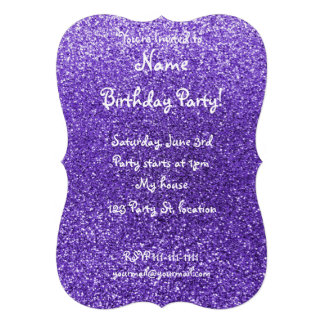 Brilho roxo convite personalizados