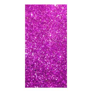 Brilho roxo do diamante cartão
