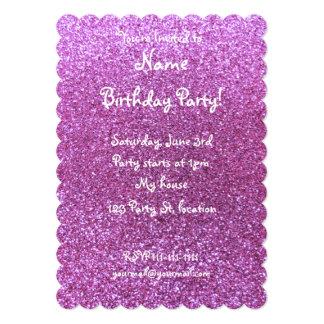Brilho roxo Pastel Convite Personalizados
