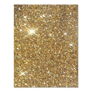 Brilho Sparkling do ouro luxuoso Convite 10.79 X 13.97cm