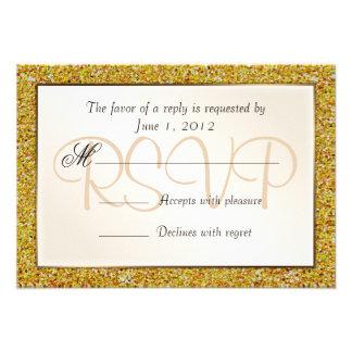 Brilho Sparkling elegante RSVP do doce 16 do ouro Convites