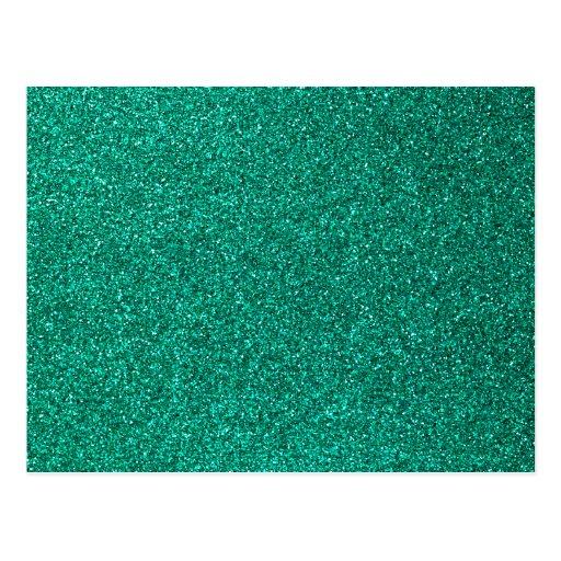 Brilho verde cartao postal