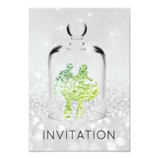 Brilho verde cinzento do partido do país do convite 8.89 x 12.7cm