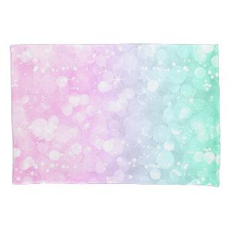 Brilho verde & cor-de-rosa da luz - de Bokeh