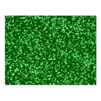 Brilho verde Sparkling Cartão Postal