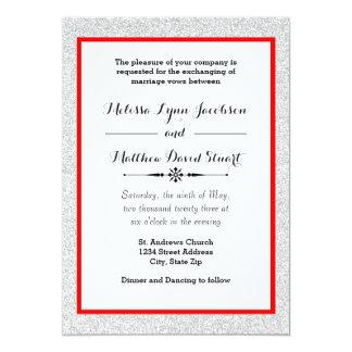 Brilho & vermelho brancos quadro - convite do