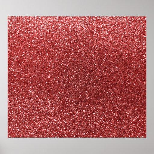 Brilho vermelho claro pôsteres
