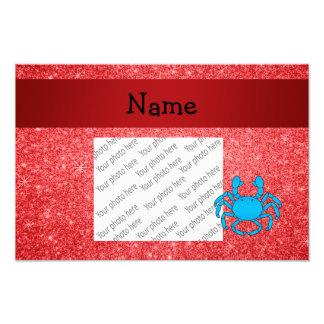 Brilho vermelho conhecido personalizado do carangu impressão de fotos
