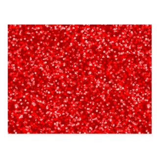 Brilho vermelho Sparkling Cartão Postal