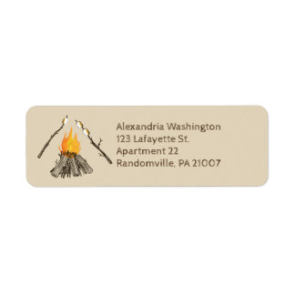 Brindando o endereço do remetente da fogueira dos etiqueta endereço de retorno