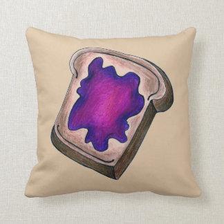 Brinde com o travesseiro roxo do pequeno almoço da almofada
