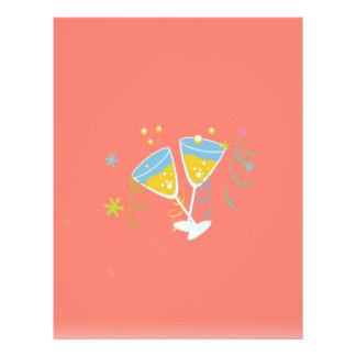 Brinde de Champagne. Vintage retro do rosa da fest Modelo De Papel De Carta