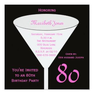 brinde do 80 do convite de aniversário do 80